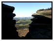View through the Rocks at Stanage Edge